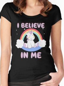 Cute Unicorn Women's Fitted Scoop T-Shirt