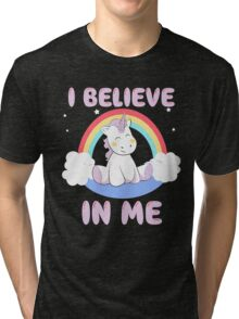 Cute Unicorn Tri-blend T-Shirt