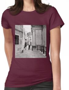 Venetian Lady In The Polka Dot Dress Womens Fitted T-Shirt