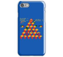 Q*Bert - Video Game, Gamer, Qbert, Orange, Blue, Nerd, Geek, Geekery, Nerdy iPhone Case/Skin