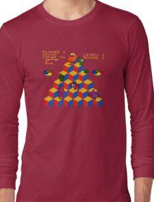 Q*Bert - Video Game, Gamer, Qbert, Orange, Blue, Nerd, Geek, Geekery, Nerdy Long Sleeve T-Shirt