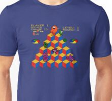 Q*Bert - Video Game, Gamer, Qbert, Orange, Blue, Nerd, Geek, Geekery, Nerdy Unisex T-Shirt
