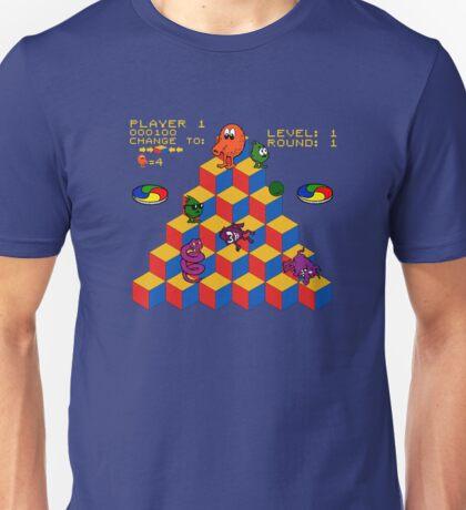 Q*Bert - Video Game, Gamer, Qbert, Orange, Blue, Nerd, Geek, Geekery, Nerdy Unisex T-Shirt