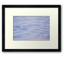 Snow dunes in Yosemite, California Framed Print