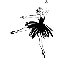 Ballet Dancer hand drawn graphic illustration Photographic Print