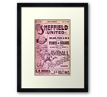 Sheffield United Football Club programme, 1899 Framed Print
