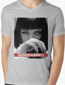 MIA WALLACE Mens V-Neck T-Shirt