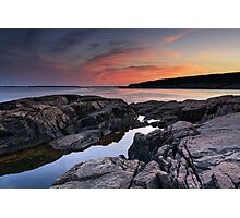 Otter Point sunset, Acadia National Park, Maine Photographic Print