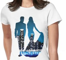 City Skyline! Womens Fitted T-Shirt