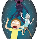 Rick and Morty go to the Upside Down by Atrumentis