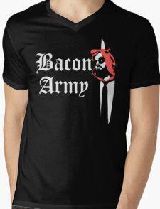 Bacon Army Mens V-Neck T-Shirt