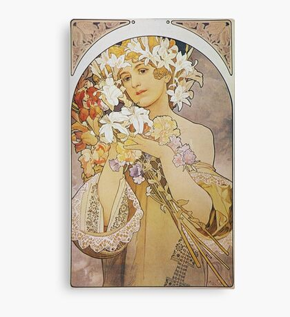 Alphonse Mucha - Flowers 1897  Canvas Print