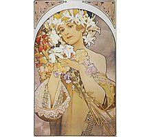 Alphonse Mucha - Flowers 1897  Photographic Print