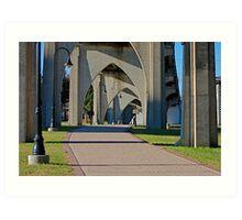 Conway Walkway, Under The Bridge into Town Art Print