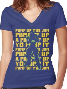 Pump It Up Women's Fitted V-Neck T-Shirt