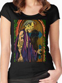 Zombie at the door Women's Fitted Scoop T-Shirt