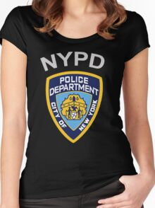 NYPD New York Police Department  Women's Fitted Scoop T-Shirt