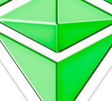 Ethereum Classic simple (green metal) Sticker