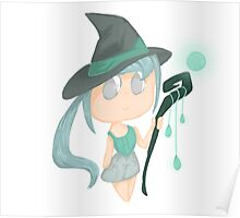Blue Witch Chibi Poster