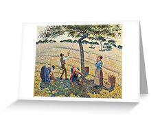 Camille Pissarro - Apple Harvest (1888)  Greeting Card