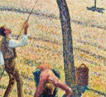 Camille Pissarro - Apple Harvest (1888)  Sticker