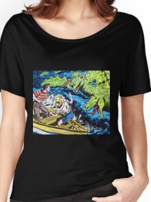 Loch Ness Monster Attack! Women's Relaxed Fit T-Shirt