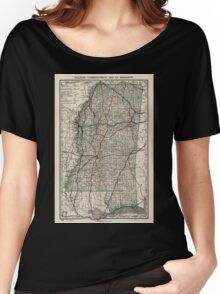 0135 Railroad Maps Railroad commissioner's map of Women's Relaxed Fit T-Shirt