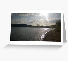 Lakeside Sunset Greeting Card