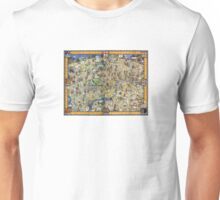 London Vintage Map Poster Restored Unisex T-Shirt