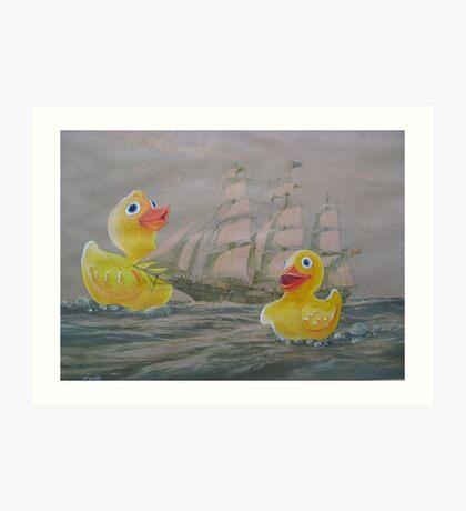 Terror on the High Seas 1 Art Print