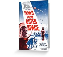 PLAN 9 from Outer Space Greeting Card