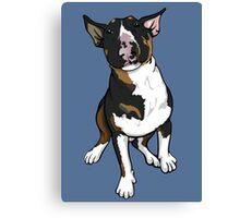 Freddie English Bull Terrier Canvas Print