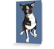 Freddie English Bull Terrier Greeting Card