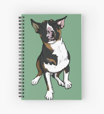Freddie English Bull Terrier Spiral Notebook