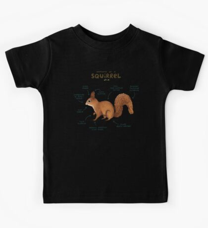 Anatomy of a Squirrel Kids Tee