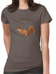 Anatomy of a Squirrel Womens Fitted T-Shirt