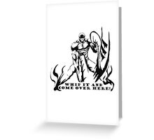 Scorpion Workout! whip it over here! Greeting Card