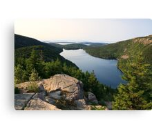 Jordan Pond from North Bubble, Acadia National Park, Maine Canvas Print