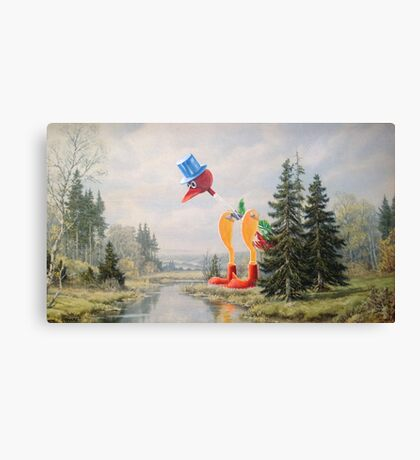 It's Drinking the Water! Canvas Print