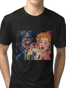 The Witch and her crystal ball Tri-blend T-Shirt