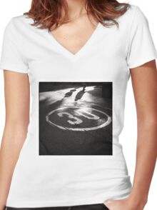 Life Begins at Thirty? Women's Fitted V-Neck T-Shirt