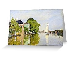 Claude Monet - Houses On The Achterzaan 1871  Greeting Card