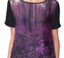 Purple forest Chiffon Top