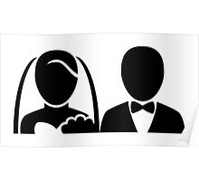 Bride and Groom Icon Poster