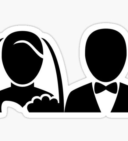Bride and Groom Icon Sticker