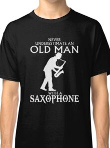 Old Man With A Saxophone Classic T-Shirt