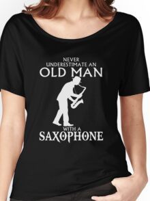 Old Man With A Saxophone Women's Relaxed Fit T-Shirt