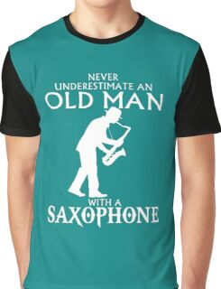 Old Man With A Saxophone Graphic T-Shirt