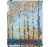 Claude Monet - Poplars On The Banks Of The Epte 1891 iPad Case/Skin