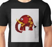Funny Red Elephant Art T-shirt Unisex T-Shirt